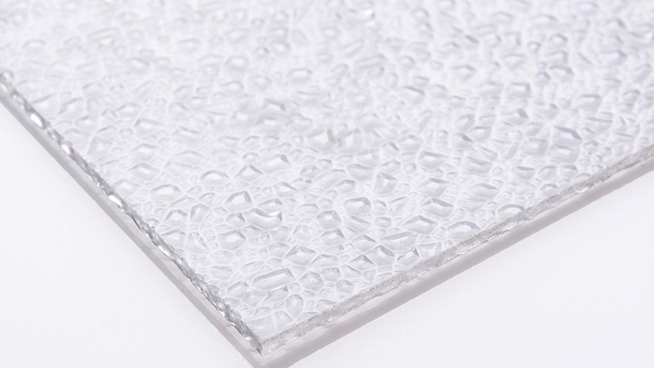 无色透明磨砂颗粒 PC耐力板