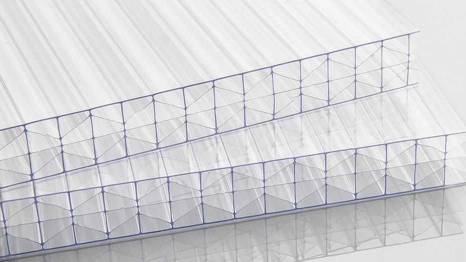 透明PC三层米字型阳光板